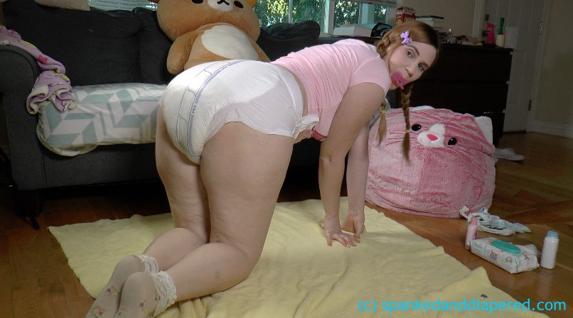Wet Diaper Spank