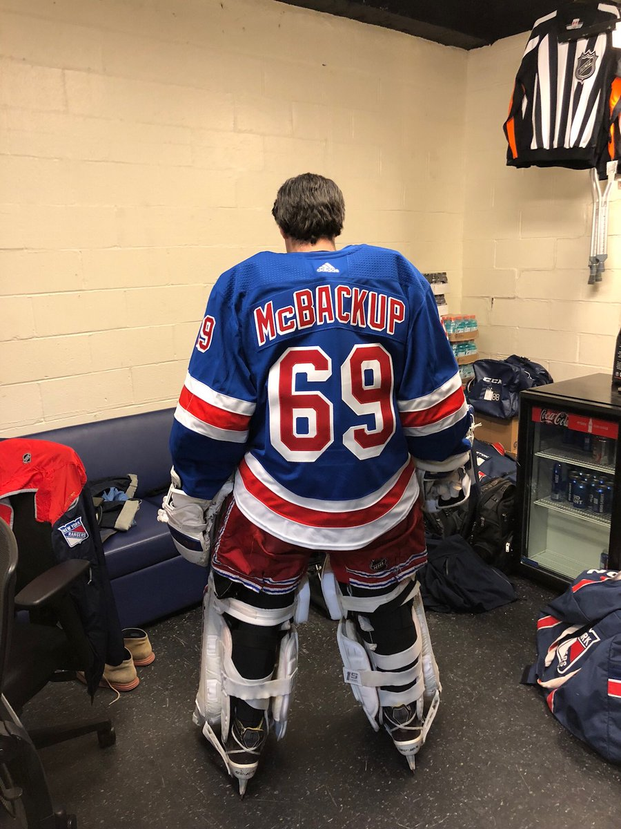 This is what the New York Rangers  emergency goalie wears 😂 eb6c7cdf3