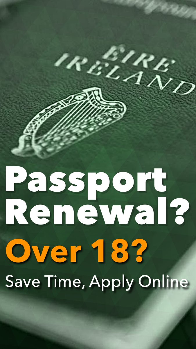 Irish passport on twitter if youre over 18 and eligible you renew your passport online 24 hours a day 7 days a week no need for a paper application form witnesses or printed photos falaconquin