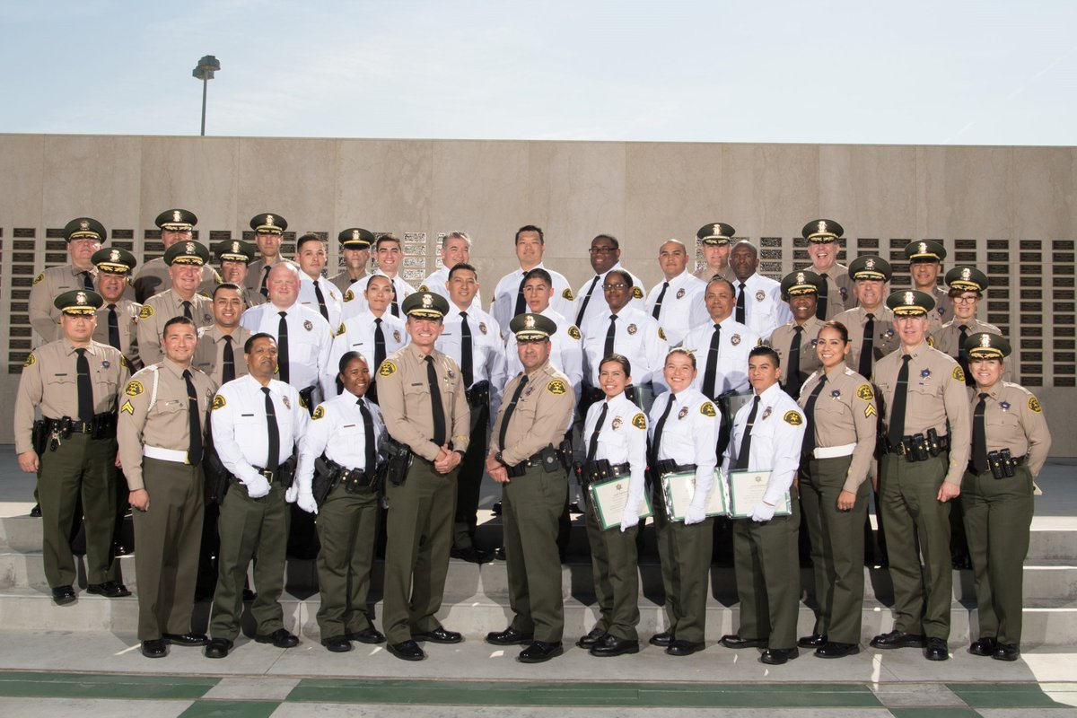 assistant sheriff eddie rivero officiates security officer graduation ceremony held today at lasd biscailuz lasdtraining center in los angeles