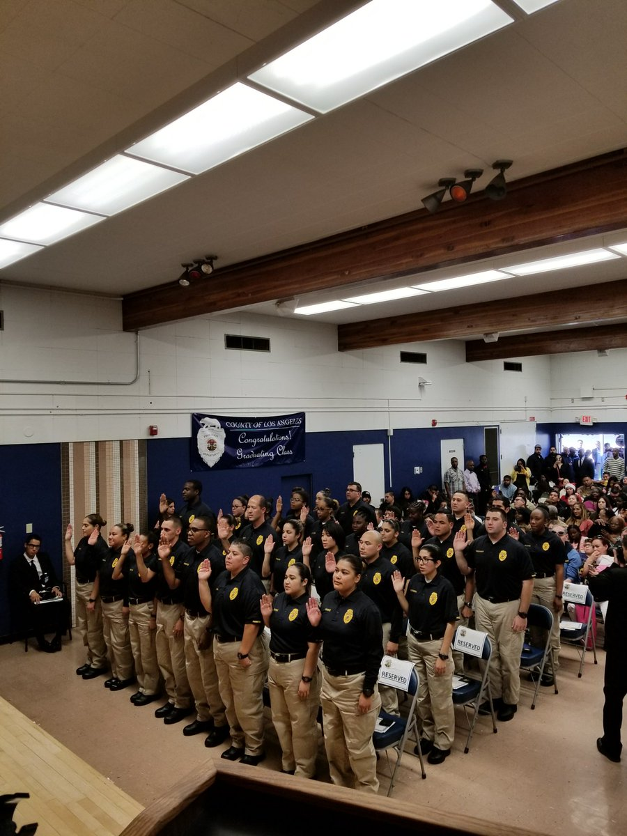 los angeles county probation department on twitter la county probation juvenile corrections officer core class of 2017 07 being sworn in and ready to