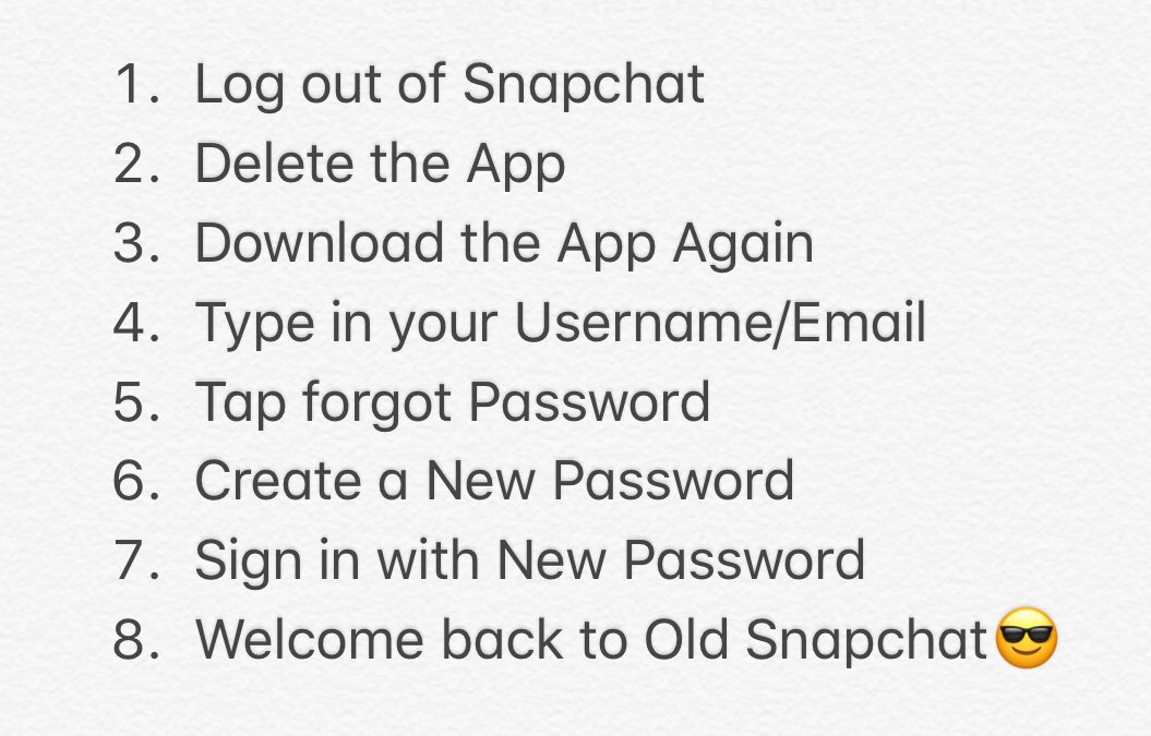 how to get the old version of snapchat