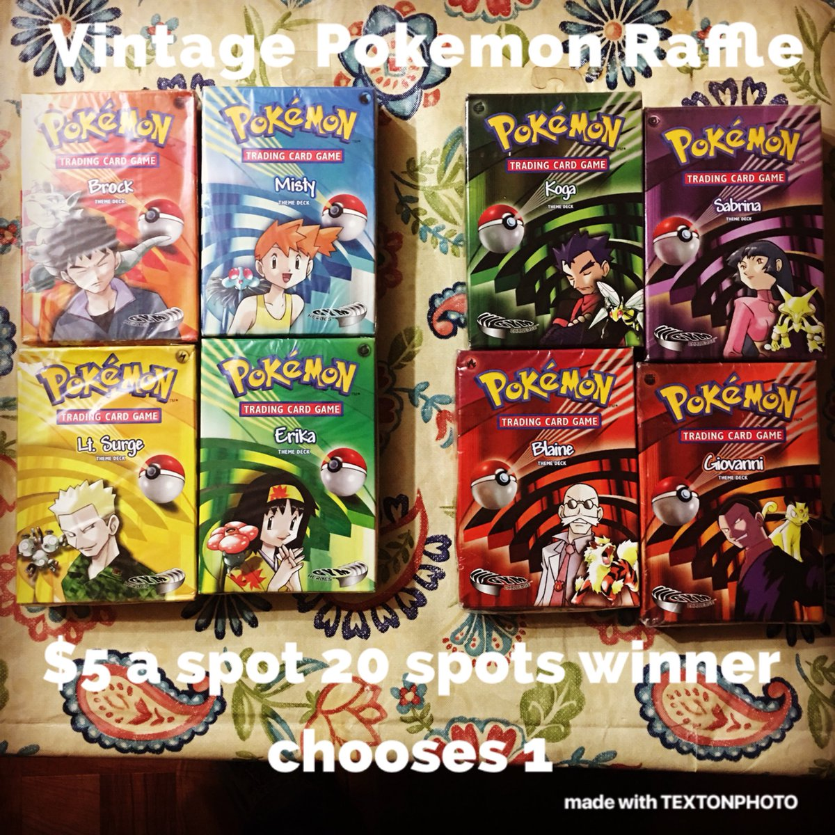 Hey guys I have a raffle going on right now on my Instagram page. If you are interested in anything vintage related check it out only $5 an entry!  https://Instagram.com/p/Be_yxHkACnJ/   #pokemon #pokemonraffles #vintagepokemon #pokemongymheroea #pokemongymchallenge #gymheroea #gymchallengepic.twitter.com/fE7U69LxX9