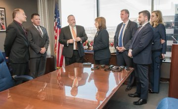DEA Acting Administrator Patterson and Argentine Minister of Security Patricia Bullrich and their delegations