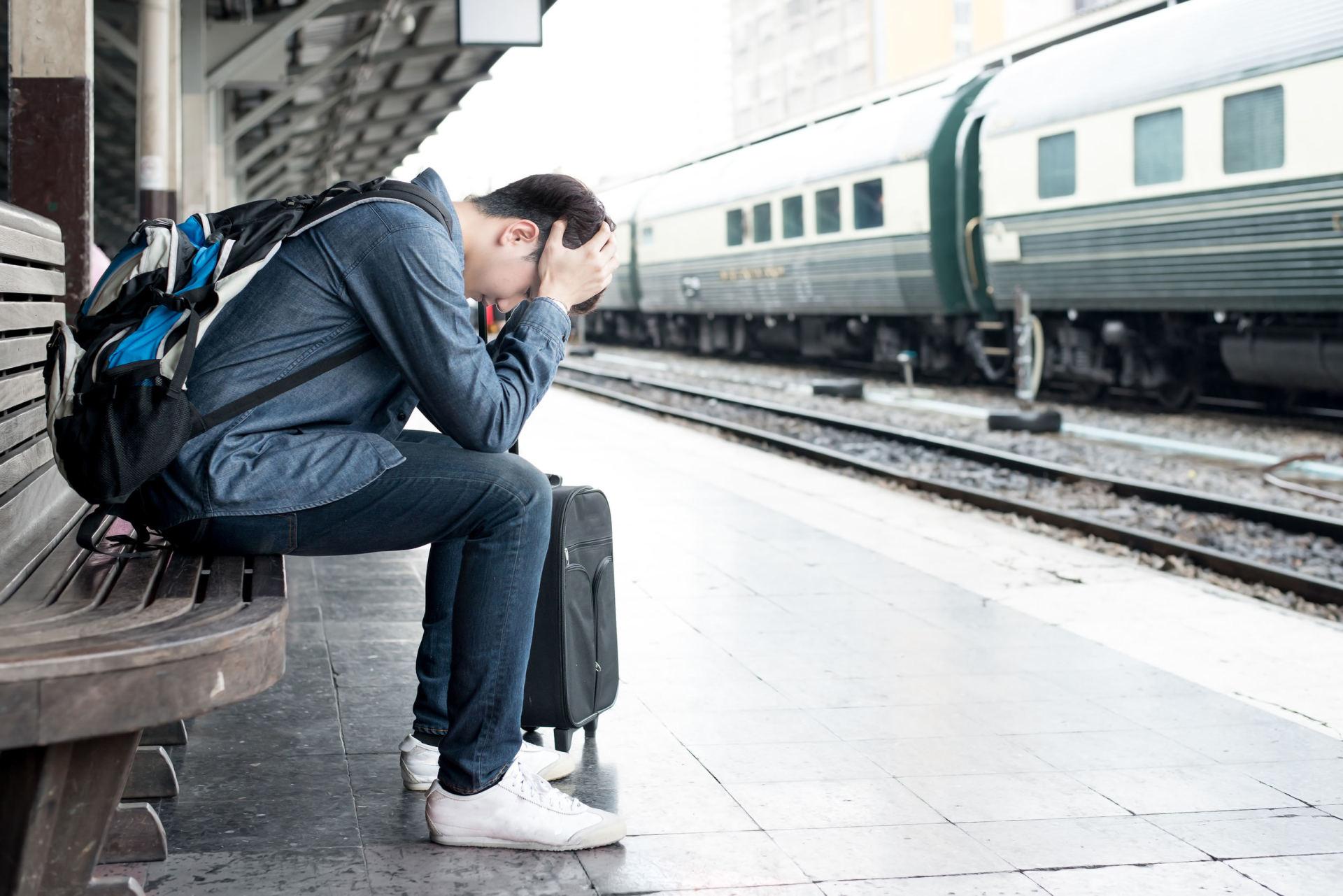 Картинка человек опаздывает на поезд