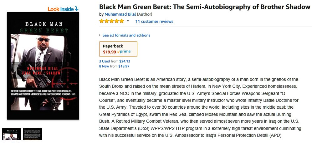 b5a069f38d61a ... weeks. http   a.co 2cArdK0 Black Man Green Beret  The Semiautobiography  of Brother Shadow. Order your copy today