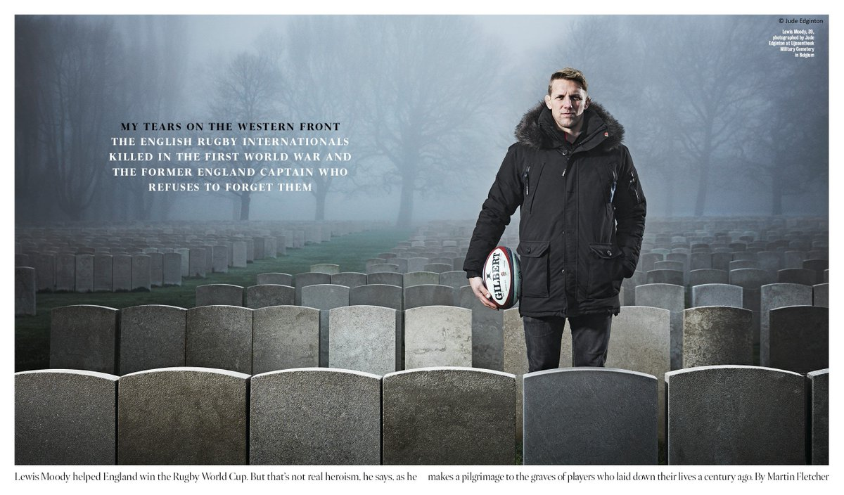 Commonwealth War Graves Foundation ambassador, @LewisMoody7 recently undertook a special trip to France and Belgium to honour Rugby Football Union internationals who fell during the First World War. Find out more, here: ow.ly/iYWX30iiDbr #RugbyRemembers