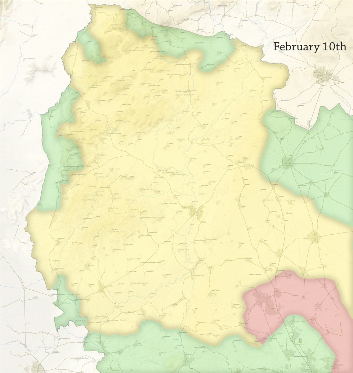 Nathan Ruser on Twitter Map The approximate situation in Afrin