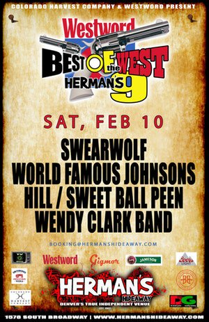 Come get cozy @HermansHideaway tonight for Best of the West 9 #Denver #Colorado #SupportLocalMusic #LocalBands #Swearwolf #WorldFamousJohnsons #Hill #SweetBallPeen #WendyClarkBand #livemusic #tacos #Westword #Gigmor #Coors #Jameson #DecibalGarden #roc #rulabulapic.twitter.com/Wx8oucKUhw