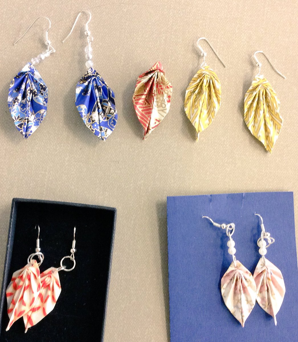 Origami Paper Leaf Earring Tutorial - The Artisan Life | 1200x1046