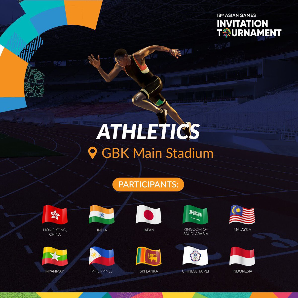 Asian games 2018 on twitter lets sprint to gbk main stadium and asian games 2018 on twitter lets sprint to gbk main stadium and watch the asiangames2018 invitation tournament athletics get your tickets on the spot stopboris Gallery