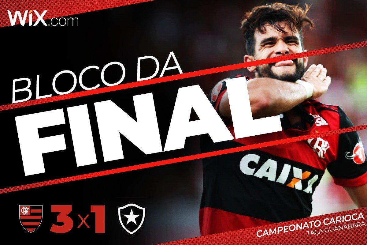 Vencemos! Com gols de Everton, Henrique Dourado e Vinicius Jr, estamos na final da Taça Guanabara. Flamengo 3x1 Botafogo. É o #BlocoDaFinal!