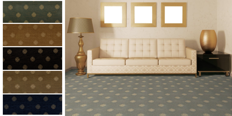 Let your fun side show with our polka-dotted Implicito carpet. It's chocked full of personality!  #Staatsburg #StaatsburgNY