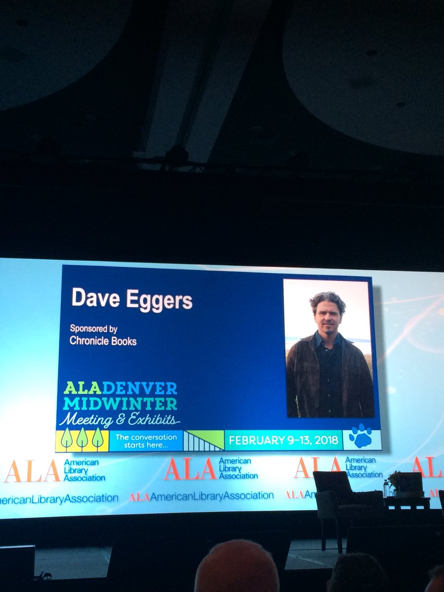 Good Morning from Denver!!!! @faraglibrarian is interviewing @Daveeggers4