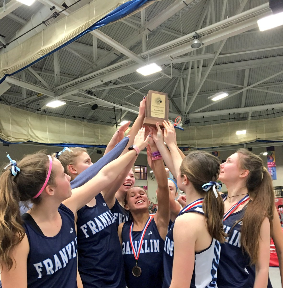 3 peat!!!! The girls are Hockomock League Champions!!! Awesome team effort today