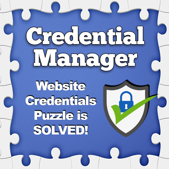 Credential manager удалить