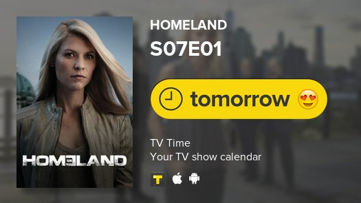 Homeland is back tomorrow! #Homeland #tv...
