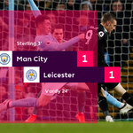 It's in the balance after Vardy's equaliser  #MCILEI