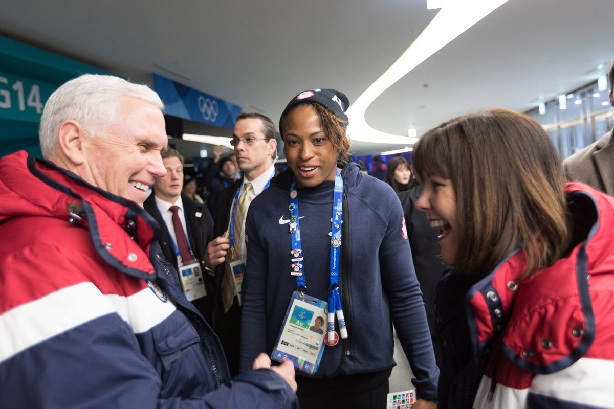 It was an honor & privilege to meet so many inspiring & talented Olympic athletes. Their hard work & dedication got them here and I couldnt be more proud to root for #TeamUSA!