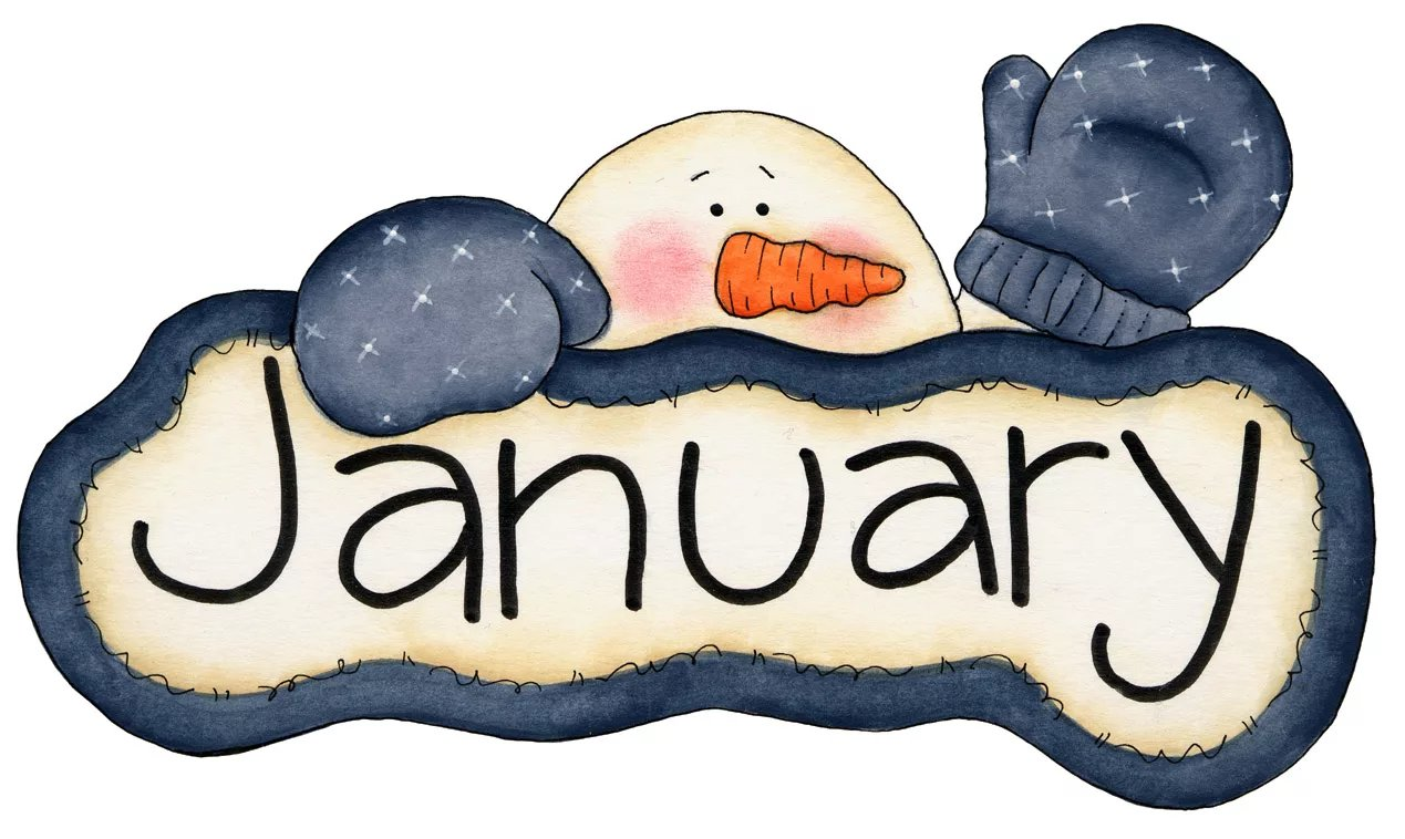 Картинки с надписью январь, цветные открытки днем