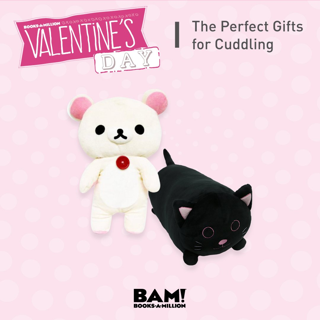 Who says Valentine's Day cuddle buddies need to be real people? Plushup to 50% off at #BooksAMillion! bit.ly/2BItf5U