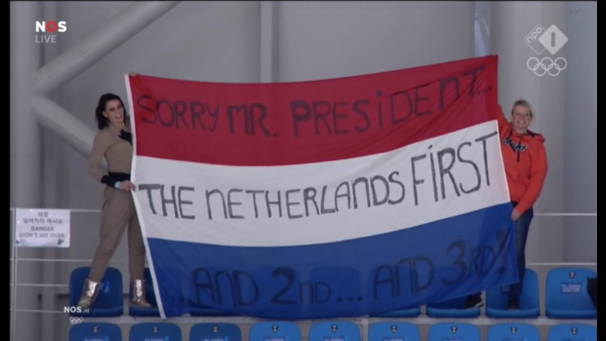 Nederlands spandoek gaat internet over