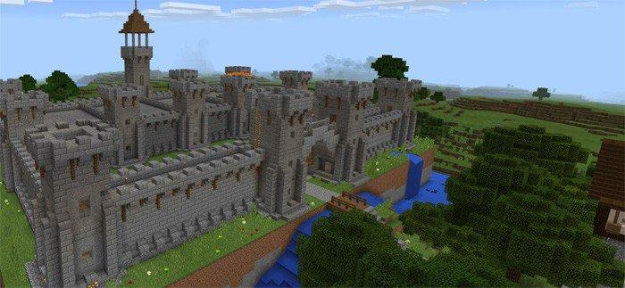карта средневековый замок майнкрафт #8