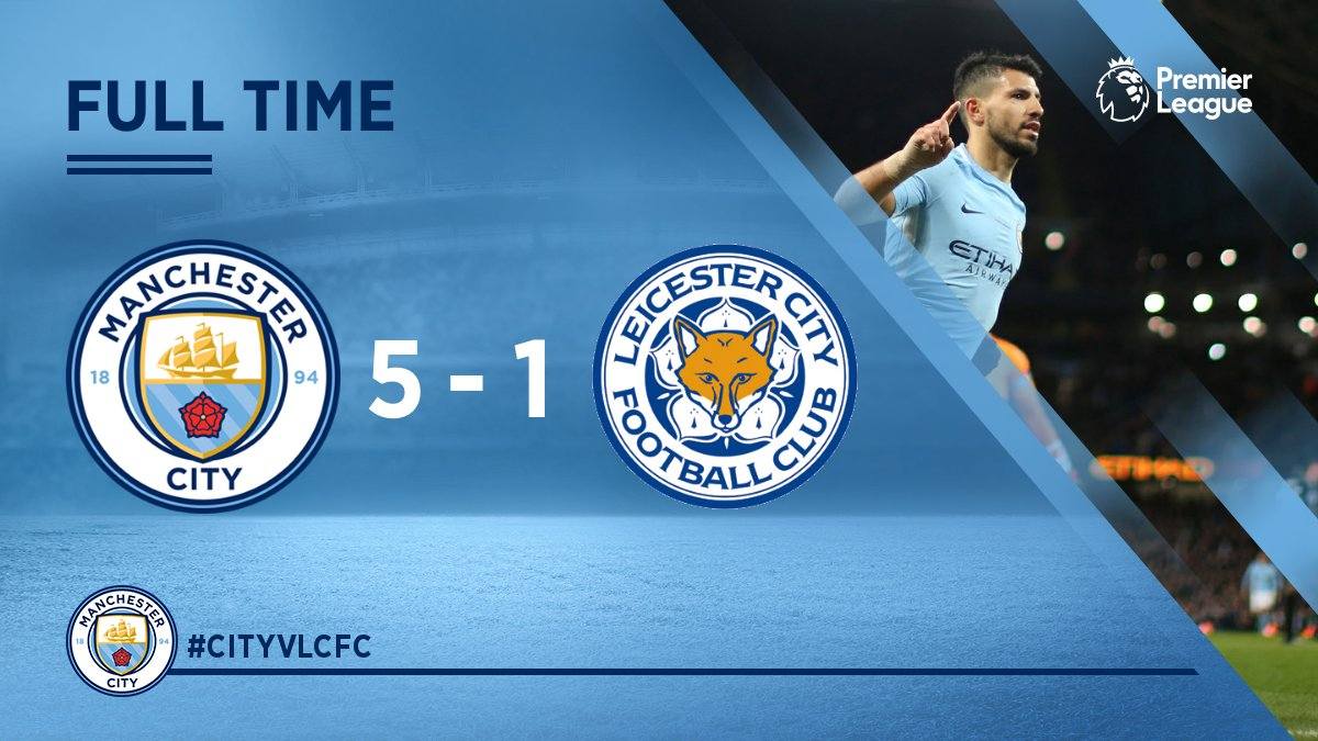 Chấm điểm kết quả Manchester City 5-1 Leicester City