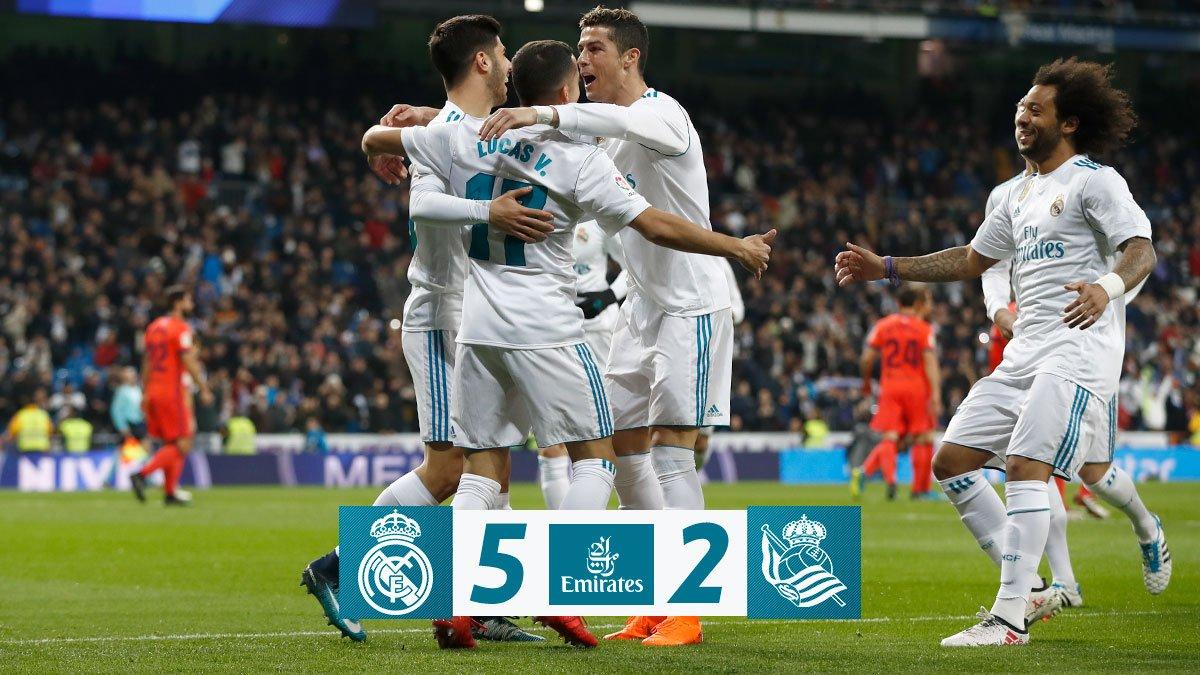 Chấm điểm kết quả Real Madrid 5-2 Real Sociedad