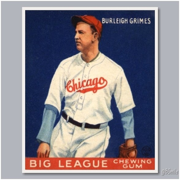 Baseball By Bsmile On Twitter 1933 Goudey Big League