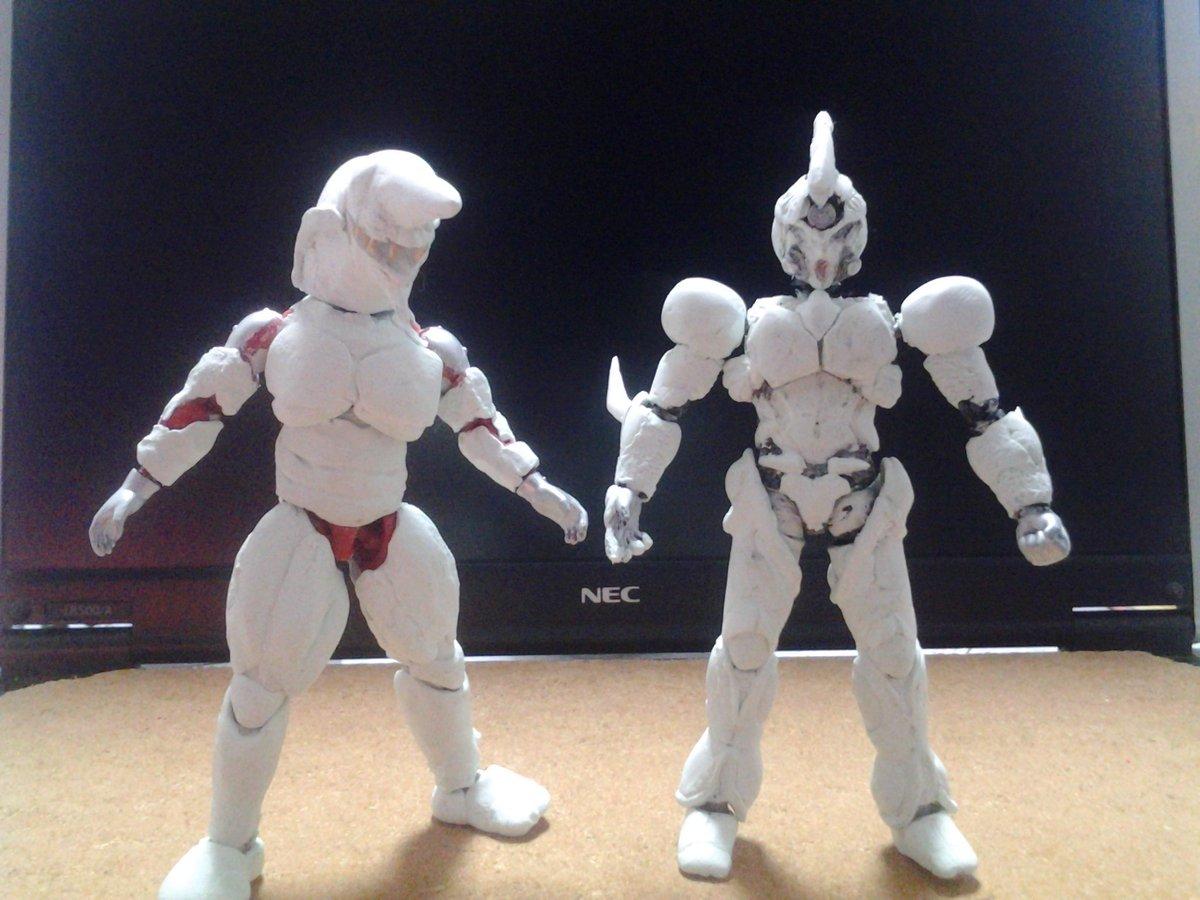 掌動改造強殖装甲ガイバー進捗 獣化兵も作ります(笑)。  #掌動