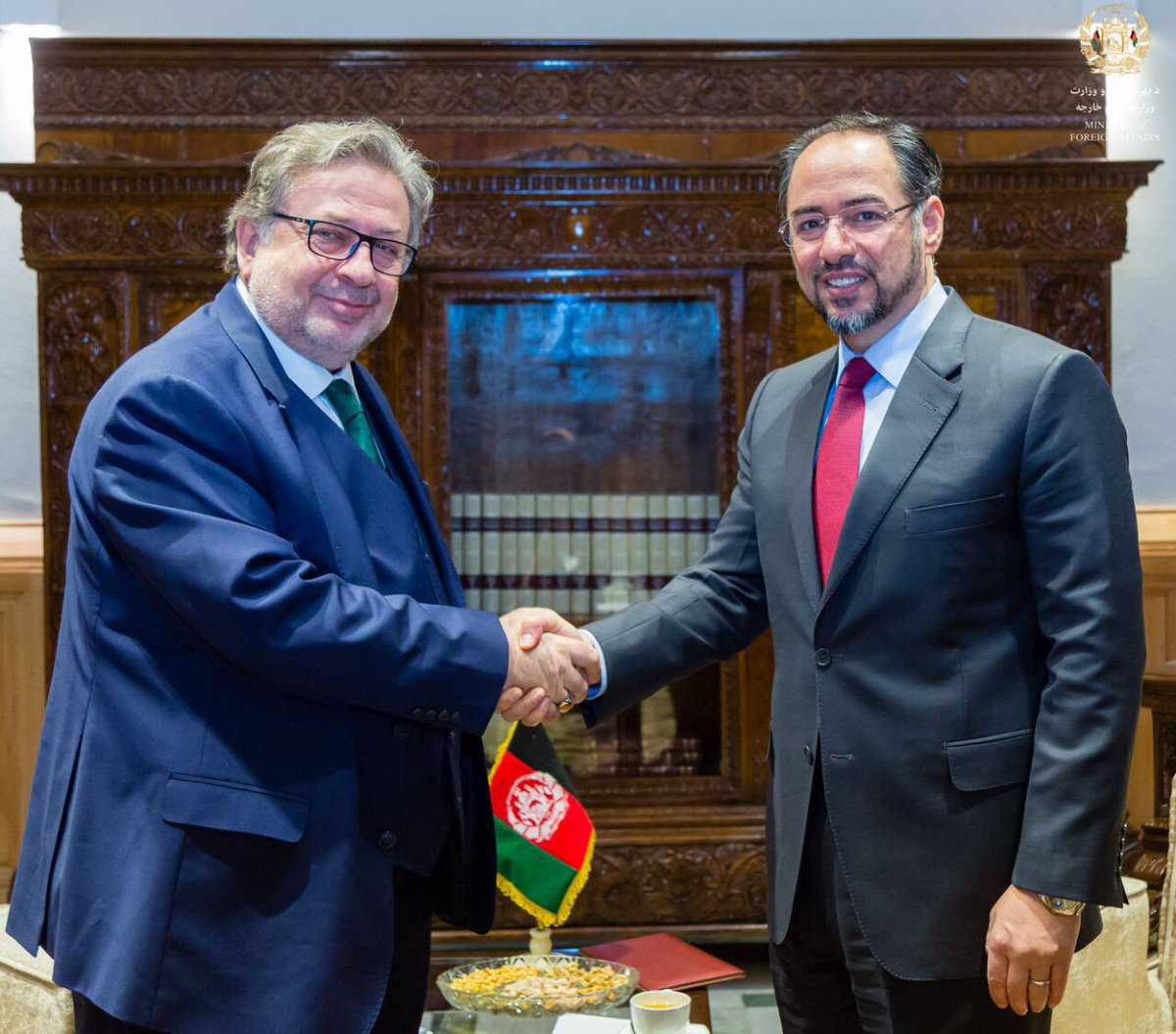 I received Ambassador Huseyin Avni Botsali  Permanent Representative of the OIC in Afghanistan today @mfa_afghanistan . We are grateful for OIC's longstanding support to peace efforts in Afghanistan. @OIC_OCI