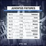 Tough tests...  Juventus have a tricky set of fixtures ahead as they go in search of a dream treble. 🇮🇹