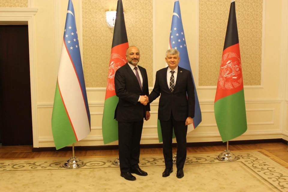 Leading a high-level delegation, @NSAAtmar traveled to Uzbekistan ystrday, presided over the Uzbek-AFG Joint Sec. Commission together with his Uzbek counterpart V.Mukhamdov in which they discussed importance of the Commission&its alignment with mutual agreements of cooperation(1)