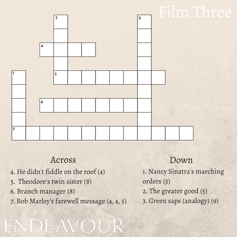 Endeavour on twitter a new crossword for you to get your teeth 130 am 11 feb 2018 ccuart Image collections