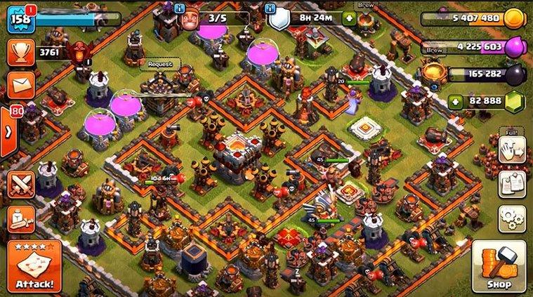 clash of clan hacked version