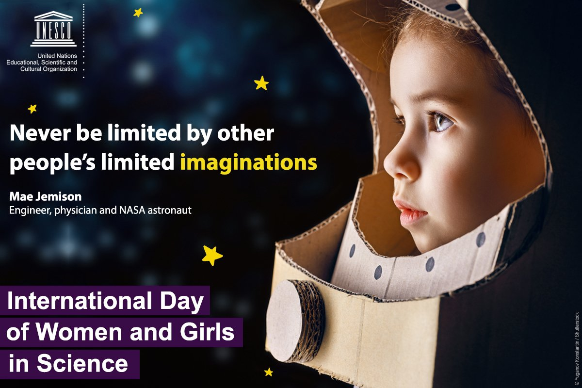 Let us challenge stereotypes!   Let us benefit from diversity!   Let us push the boundaries of innovation!   Let us #ChooseScience!   Today is International Day of Women and Girls in Science.    🌐 https://t.co/jcAHtjI4XZ   #WomenInScience