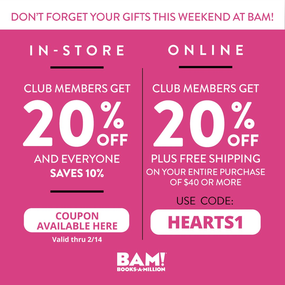 All weekend long were showing you some #love! Be our #valentine and take a discount in-store and online at #BooksAMillion.