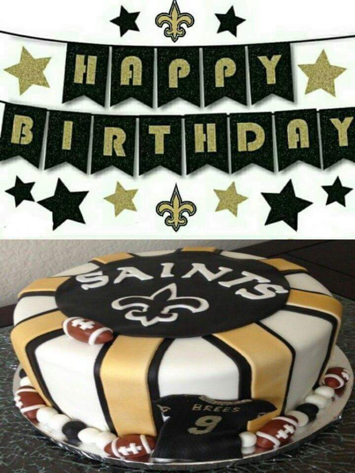 New Orleans Saints Birthday Cake Images Birthday Cake With Candles