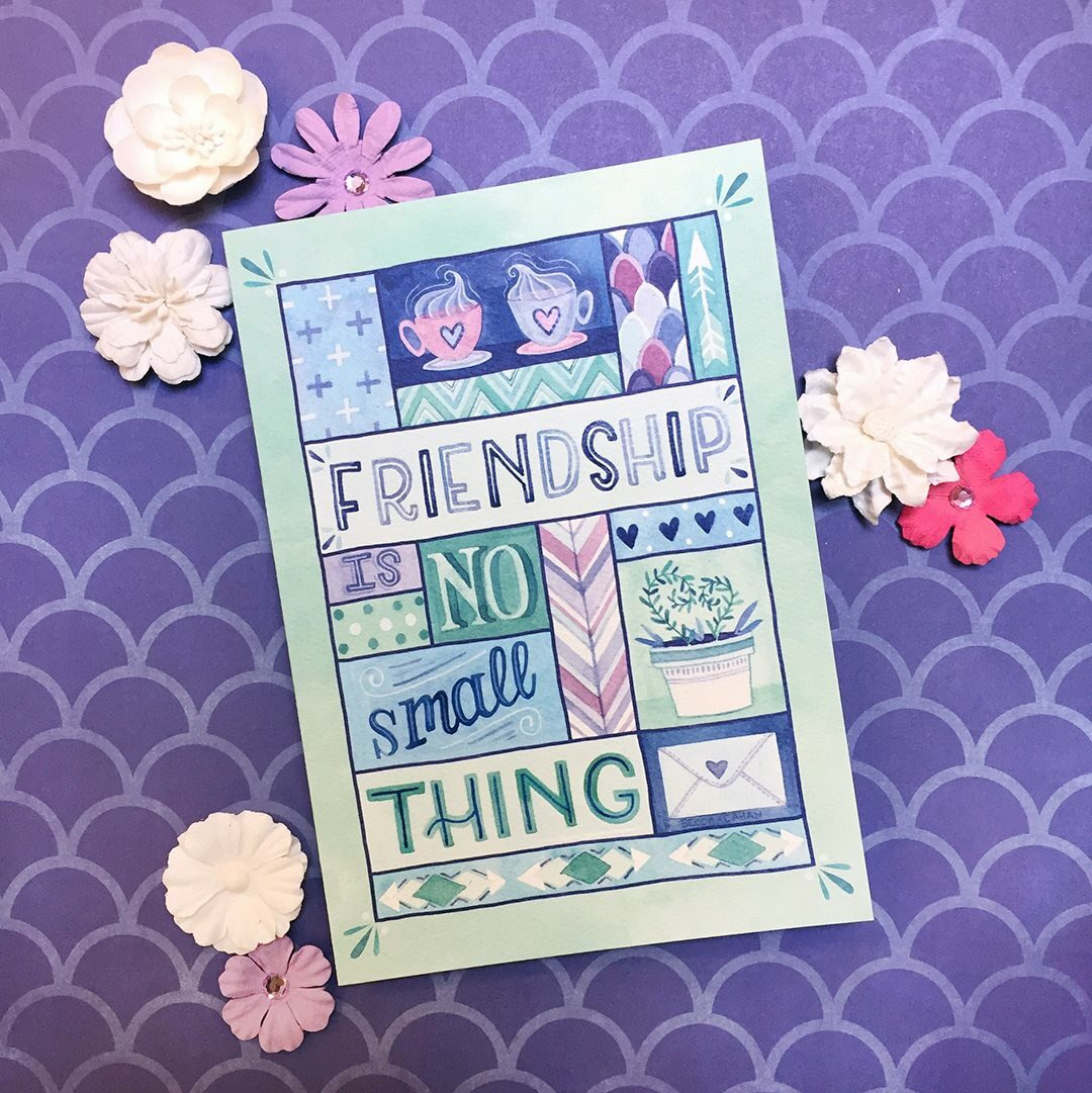 Today is Make a Friend Day! As this cute greeting card says: Friendship is no small thing. © RSVP® All Rights Reserved Artwork © Becca Cahan #friends #besties #makeafriend #greetingcards #stationery #paperlove #card #friendship