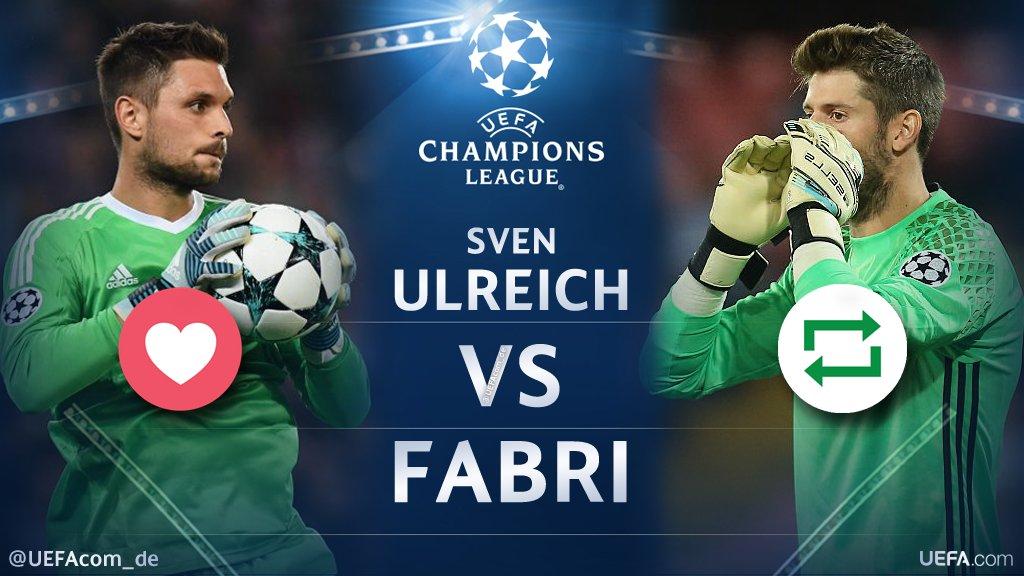 #UCL Countdown 🕘  ❤️ =  Sven #Ulreich 🐻 🔁 = #Fabri 🦅  #FCBBJK #BJKFCB @FCBayern #Beşiktaş