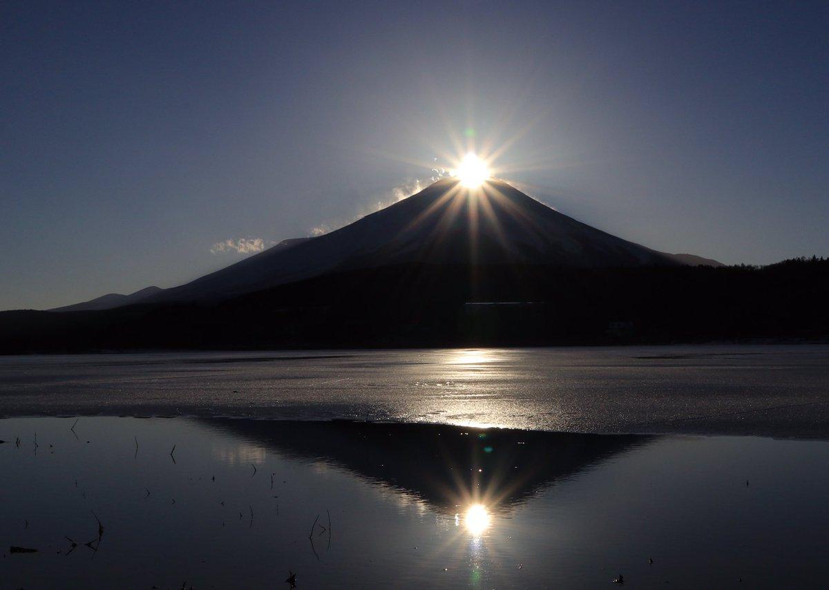 今日のダブルダイヤモンド富士です。