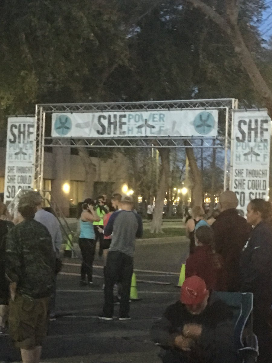Up bright and early for the #ShePower5K in downtown Chandler! @131Events