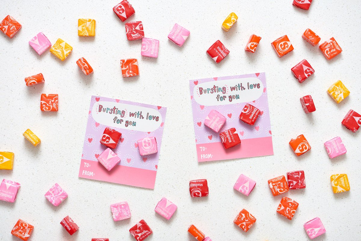 photograph relating to Starburst Valentine Printable referred to as The Kitchn upon Twitter: \