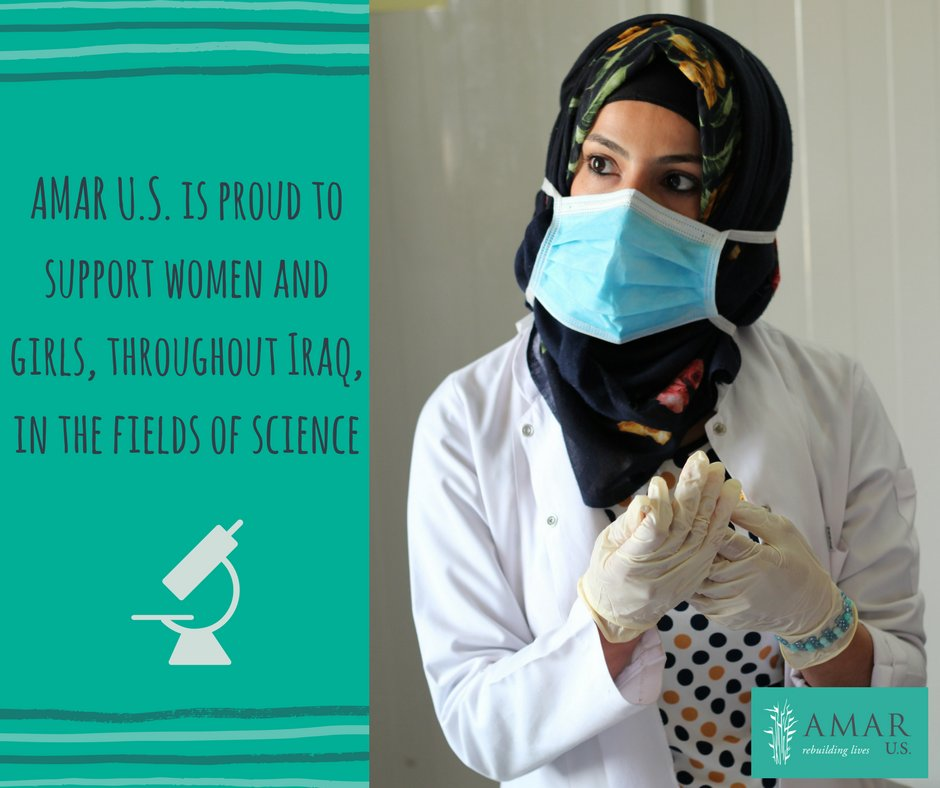 test Twitter Media - It's International Day of Women and Girls in Science! AMAR U.S. continues to support Iraqi women and girls in the fields of science. Meet one of our female medical professionals who works at the AMAR sponsored Shekhan Hospital, in Northern Iraq. #DayofWomenandGirlsinScience https://t.co/aVt1OFvExj