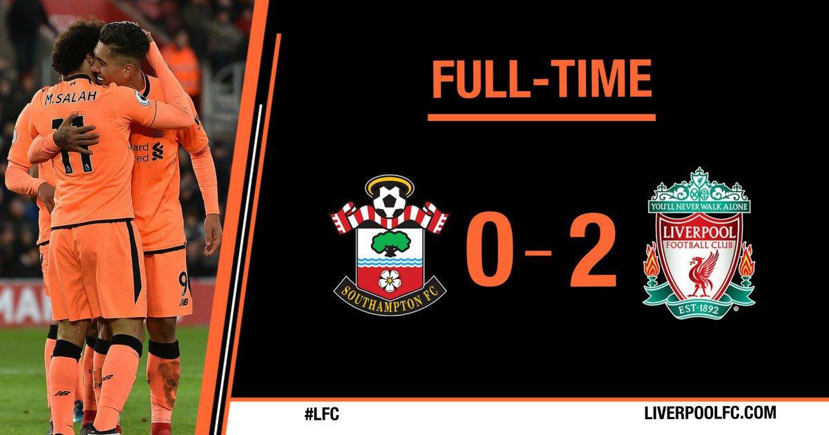Chấm điểm kết quả Southampton 0-2 Liverpool
