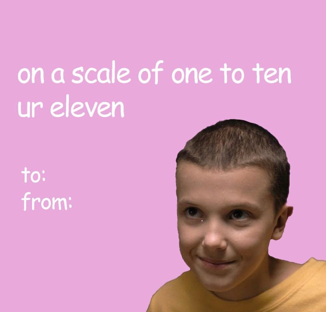 Early #ValentinesDay present... you're welcome. #StrangerThings #StrangerThings2 #love