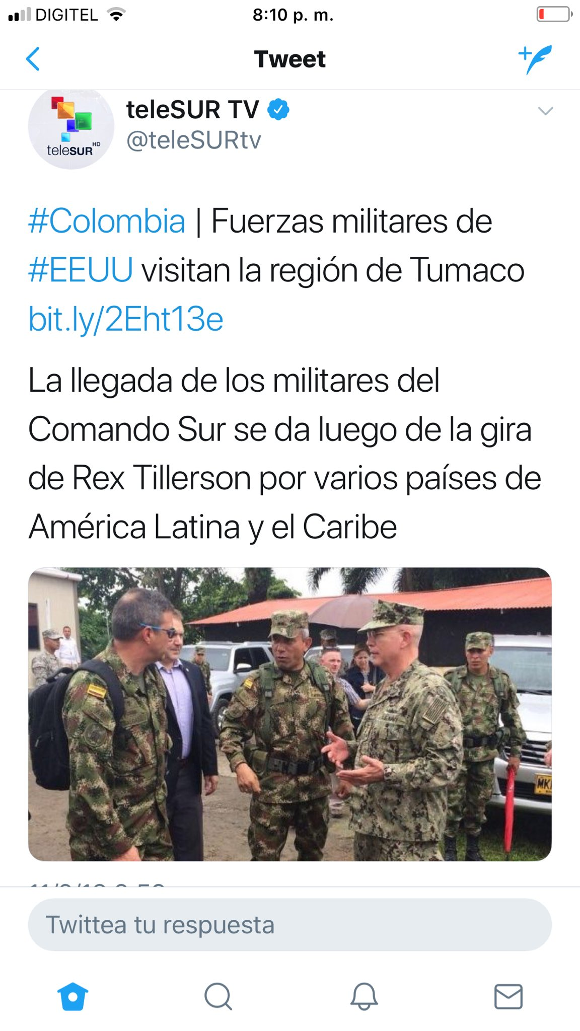 COMUNICADO - CÓMO PREPARARNOS PARA UN ATAQUE GRINGO A TRAVES DE COLOMBIA Y ARUBA-CURAÇAO? DVy0IWzXUAABMT3