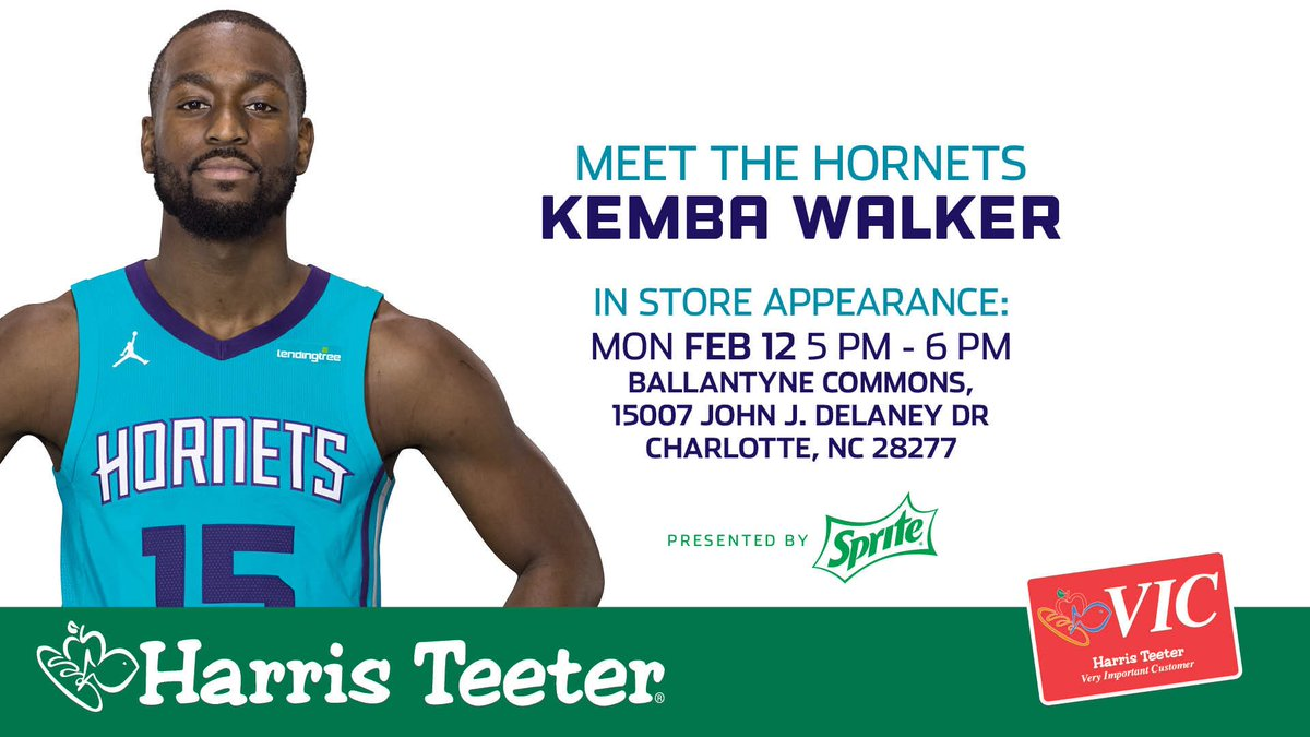 Charlotte hornets on twitter meet greetmeet kembawalker charlotte hornets on twitter meet greetmeet kembawalker tomorrow at harristeeter in ballantyne commons courtesy of sprite buzzcity m4hsunfo
