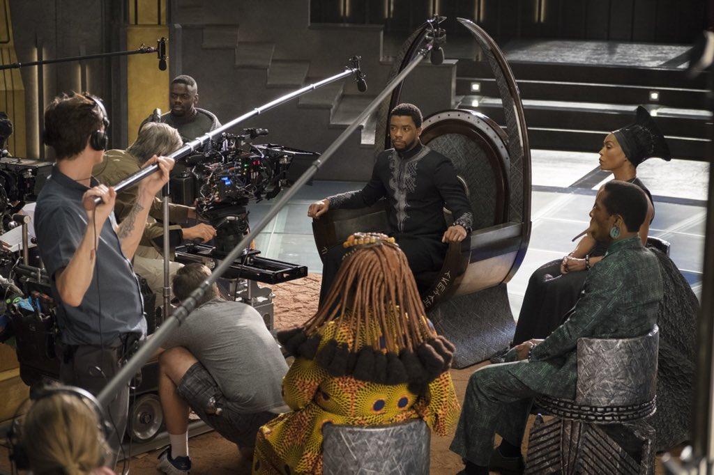 Holding court 👑 #WakandaForever #BlackPanther #BTS